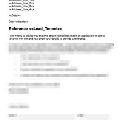 Solicitor or accountant reference template