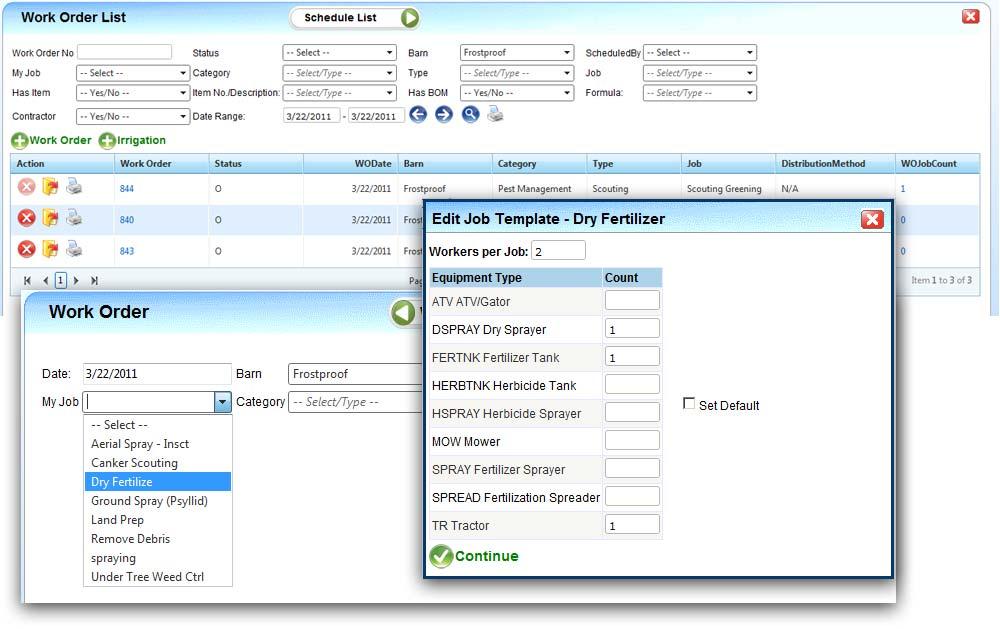 SmallFarm Software Crop Management