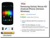 Amazon Wireless Selling the Galaxy Nexus for 1¢