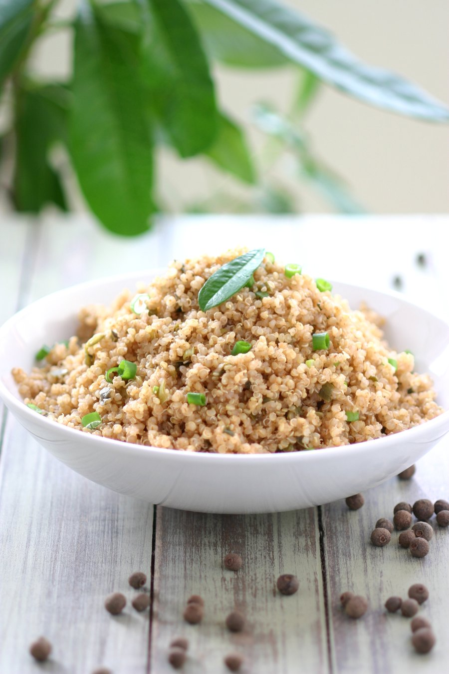 ... Quinoa can be eaten as a side dish or as a fully-loaded quinoa veggie