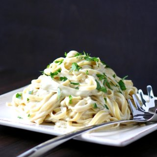 Rich, creamy, cheesy, and nondairy! This Vegan Fettuccine Alfredo is a crowd-pleasing dish for pasta lovers of all ages.