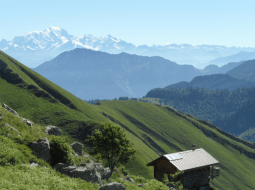 A chalet in mountain ecosystems