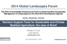 Decision Support Tools for Sustainable and Climate Resilient Agriculture: the case of Brazil