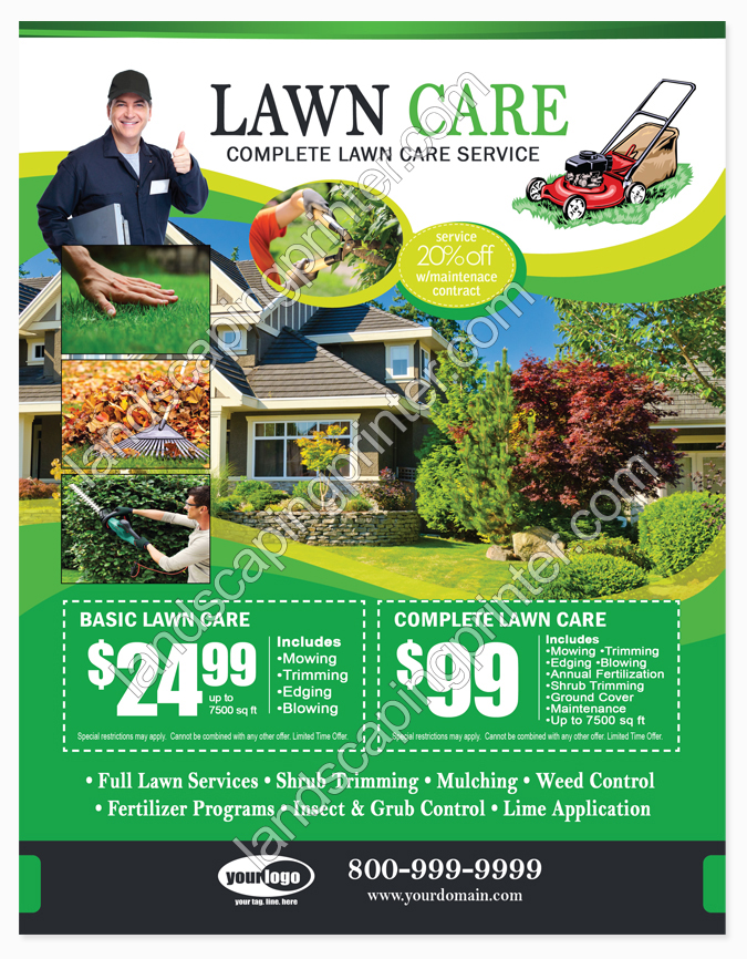 Lawn Care Flyers Lawn Care Services
