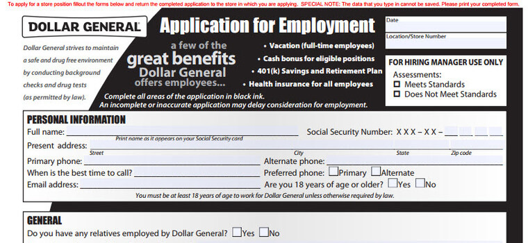 Dollar General Application 2018 Careers, Job Requirements  Interview