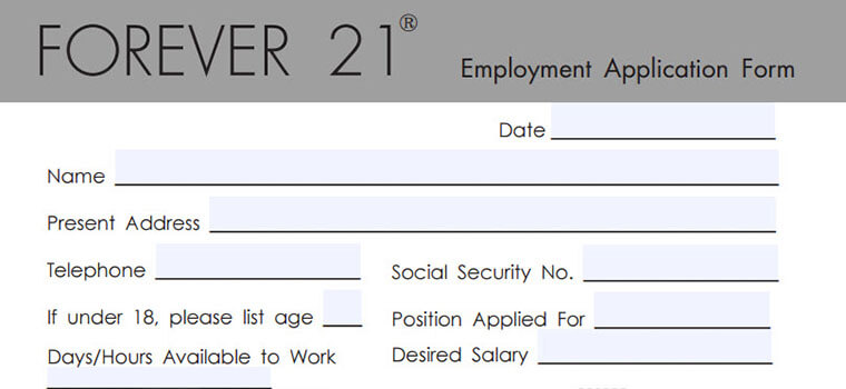 Forever 21 Application 2018 Careers, Job Requirements  Interview Tips