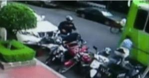 Cámaras de seguridad captan a ladrón de motocicletas en calles de Polanco de la CdMx (VIDEO)