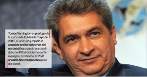 PGR ofrece 15 millones por Tomás Yarrington, ex Gobernador por el PRI; casi 4 años después de EU