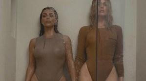¿Aburridos? Van las sensuales fotos de Kim y Khloe Kardashian para Kanye West