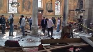 Ataque a catedral deja 25 muertos y 31 heridos en El Cairo