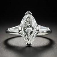 2.55 Carat Marquise Diamond Platinum Engagement Ring - GIA ...