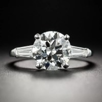 2.58 Carat Diamond Platinum Vintage Engagement Ring - GIA ...