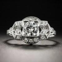 Platinum .50 Carat Art Deco Diamond Engagement Ring