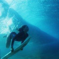 Surfen aus der Sicht des Meeresboden