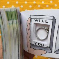 Heiratsantrag per Daumenkino
