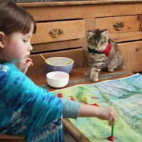 Geniale Malereien einer 5-jährigen Autistin
