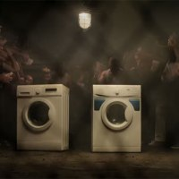 Illegale Waschmaschinen-Rennen