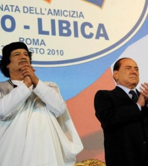 Gheddafi Berlusconi Libia Italia