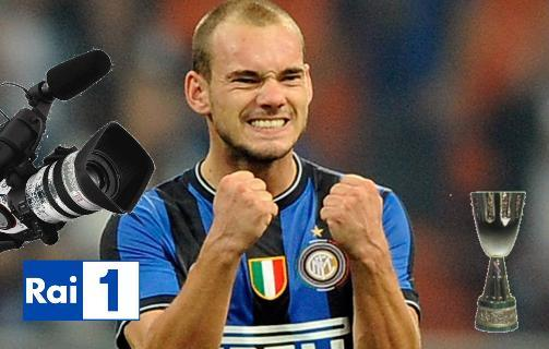Sneijder Supercoppa italiana Rai1 Foto