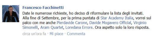 Francesco Facchinetti Profilo Facebook