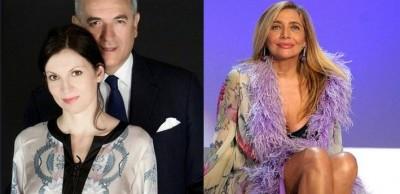 Lamberto Sposini con la figlia Francesca e Mara Venier foto doppia