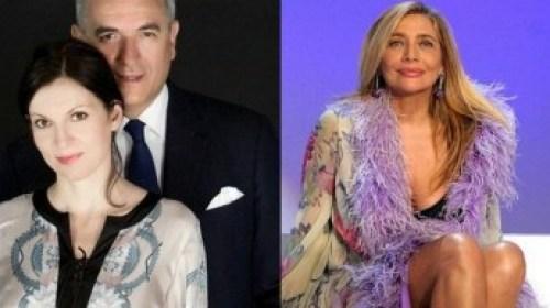 Lamberto Sposini con la figlia Francesca e Mara Venier Foto