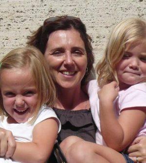 Irina Lucidi e le gemelline Alessia e Livia