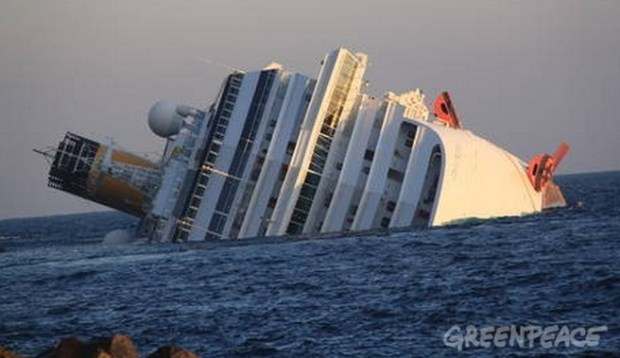 La nave Costa Concordia