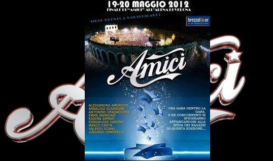 Foto locandina finale all' arena di Verona di Amici 11