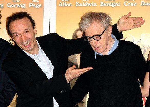 A Ballaro' Roberto Benigni e Woody Allen sulle tasse