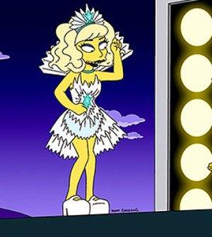 Una scena della puntata dei Simpson con Lady Gaga