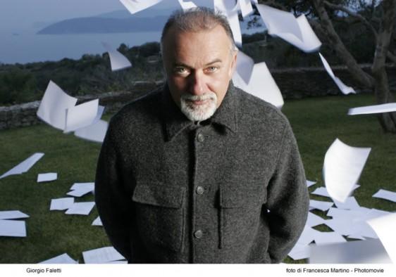 Lo scrittore Giorgio Faletti