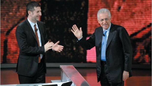 Mario Monti e Fabio Fazio