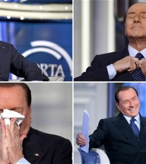 Il mattatore Silvio Berlusconi onnipresente in tv