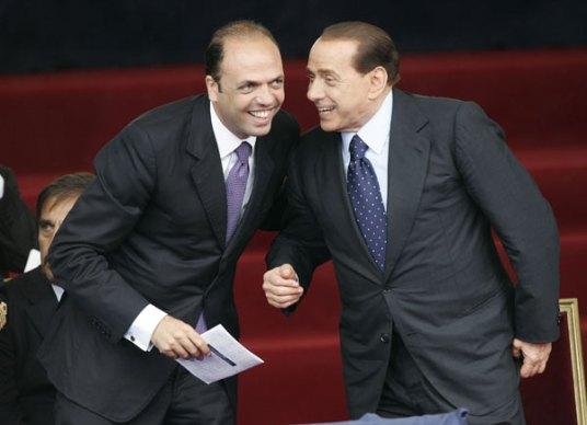 Silvio Berlusconi e Angelino Alfano a Ballarò
