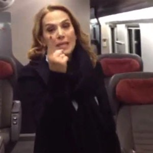 barbara d'urso business class trenitalia