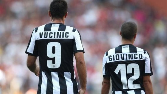 Giovinco e Vucinic Juventus