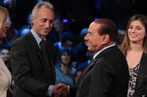 Berlusconi a Servizio pubblico: la querela di Marco Travaglio