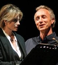 Marco Travaglio e Isabella Ferrari a teatro