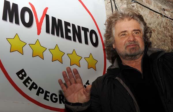 Grillo protagonista della politica italiana