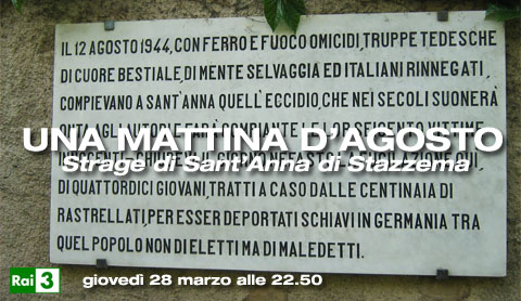 Una mattina d'agosto, strage nazista di Sant'Anna di Stazzema
