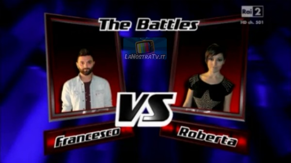 Foto di Francesco vs Roberta The Voice of Italy
