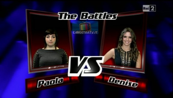 Foto di Paola vs Denise The Voice of Italy