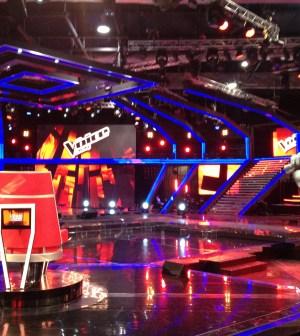 foto dello studio di the voice