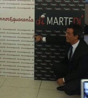 Giovanni Floris presenta i nuovi programmi di La7