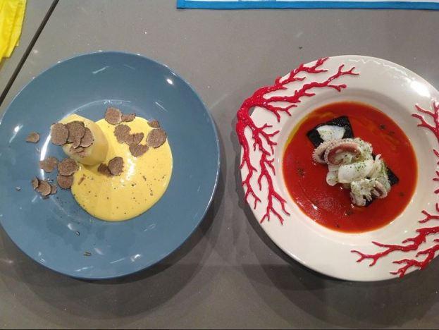 I piatti di Pascucci e Ribaldone