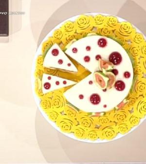 foto torta squacquerone