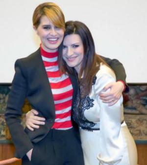 Laura Pausini e Paola Cortellesi