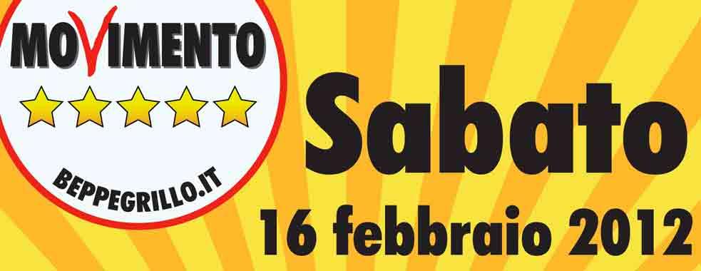 Iniziativa elettorale del Movimento 5 Stelle per sabato 16