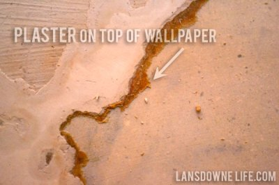 Stairway update: Drywall and ugly plaster - Lansdowne Life